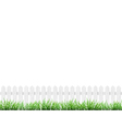 fence and grass isolated vector image