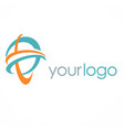 abstract loop logo vector image