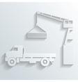 crane loading onto truck vector image