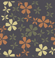 elegant seamless pattern with decorative flowers vector image