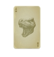 Poker card with trex vector image