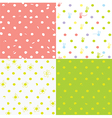 Seamless dots patterns cute design for children vector image