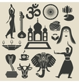 India Exotic icons set vector image vector image