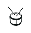 Drums musical instruments drumstick drum vector image