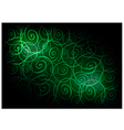 Green Vintage Wallpaper with Spiral Pattern vector image vector image
