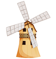 A wooden windmill vector image vector image