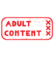 adult content stamp vector image