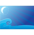 Moon light over sea vector image vector image