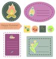 Happy Summer Camp sticker set vector image