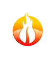 abstract fire hot logo vector image