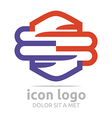 icon number 3 letter m design symbol icon vector image
