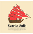 Sailing boat logo logo template and badge vector image vector image