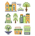 City Buildings And Other Elements Creative Design vector image
