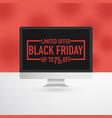 black friday computer advertisement vector image