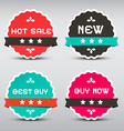 Business Paper Labels Set with New - Best Buy - vector image