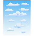 four cute clouds vector image
