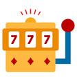 gambling machine flat icon vector image