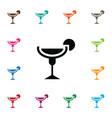 isolated nightclub icon martini element vector image