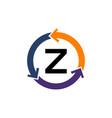 management process letter z vector image