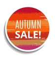 Round Sale Tag from Brush Strokes vector image