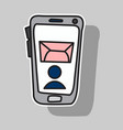 sticker of smartphone notification flat icon vector image