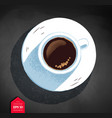 top view of coffee cup vector image