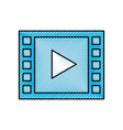 video play button digital movie film vector image