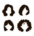 woman hairstyle silhouette vector image