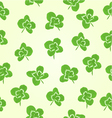 Seamless texture Leaf clovers symbol of good luck vector image