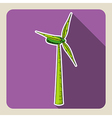 Sketch style green windmill vector image