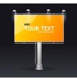 billboard screen template concept vector image