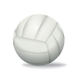 White Volleyball Isolated on a White Background vector image
