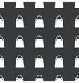 Straight black shopping bag pattern vector image