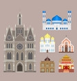cathedral church temple traditional building vector image