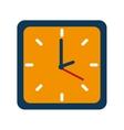 clock watch break school isolated vector image