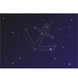 Constellation of stars on blue background with anc vector image
