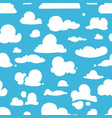 different clouds on blue sky seamless vector image