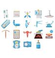 Flat design icons collection of gynecology vector image