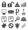 Simple black icon set 12 vector image