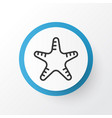 starfish icon symbol premium quality isolated sea vector image