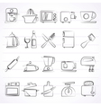 Kitchenware objects and equipment icons vector image vector image