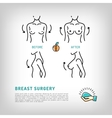Augmentation Breast plastic surgery logos Silicone vector image