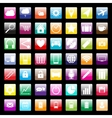 Colorful icons for mobile and web vector image