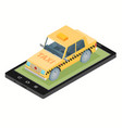 taxi service design over white background vector image