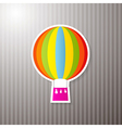 Paper Colorful Hot Air Balloon on Cardboard vector image vector image