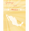 greetings from mexico vector image
