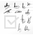 Signature set vector image