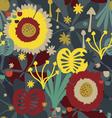 Fantasy autumn seamless print vector image