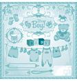 baby boy childbirth vector image
