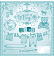baby boy childbirth vector image